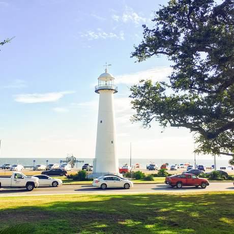 Der Biloxi Leuchtturm an der Küste Mississippis