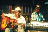 Bild von zwei Blues Musikern in Mississippi, USA
