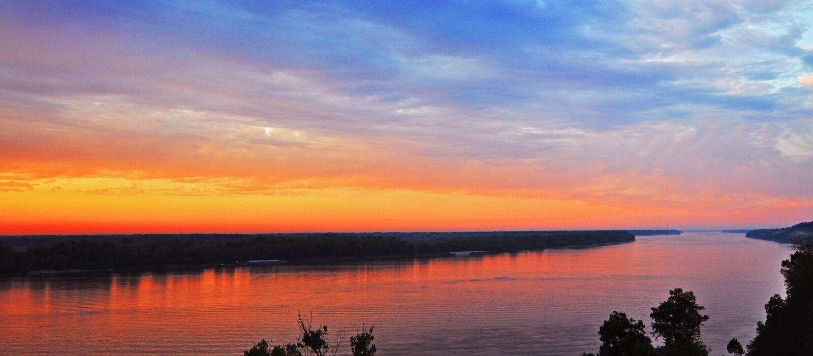 Abendstimmung am Mississippi River