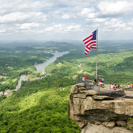 Ausblick vom Chimney Rock, Chimney Rock State Park, North Carolina