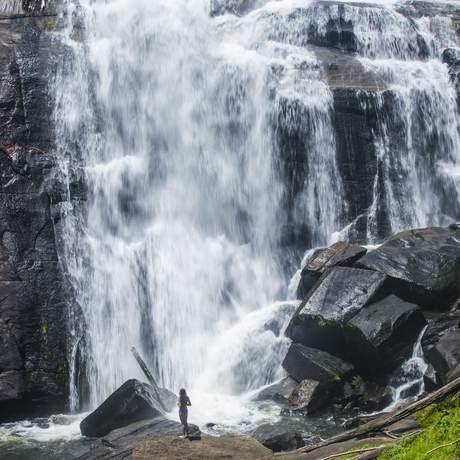 Ein Wasserfall im Gorges State Park