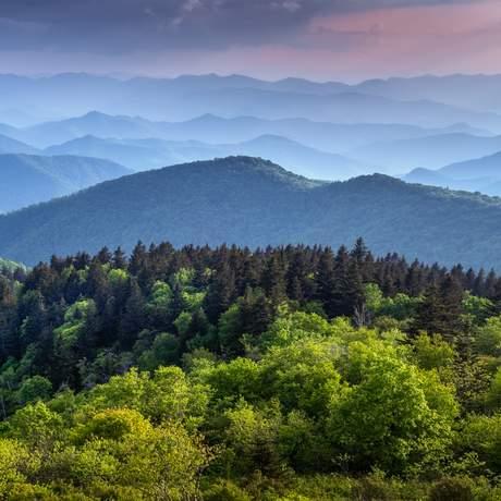 Great Smoky Mountains Nationalpark in North Carolina
