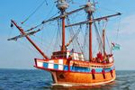 Segelschiff Queen Elizabeth II in North Carolina