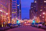 Raleigh bei Nacht in North Carolina