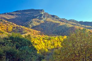 Grandfather Mountain im Herbst, North Carolina