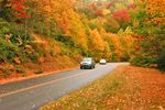 Indian Summer Laubfärbung am Highway in den Great Smoky Mountains USA
