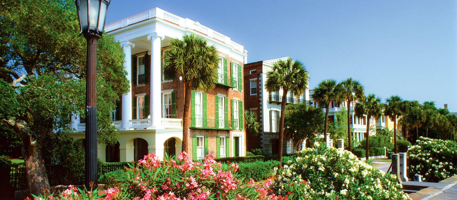Eine Promenade in Charleston, South Carolina