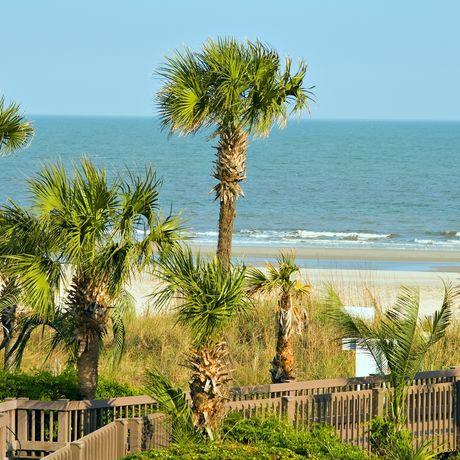 Blick auf den Atlantik, Hilton Head Island, South Carolina