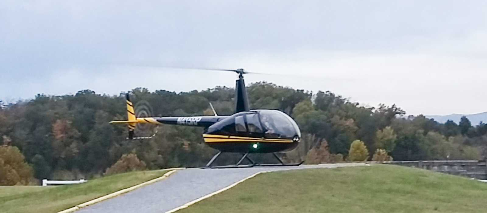 Blick auf den Helikopter