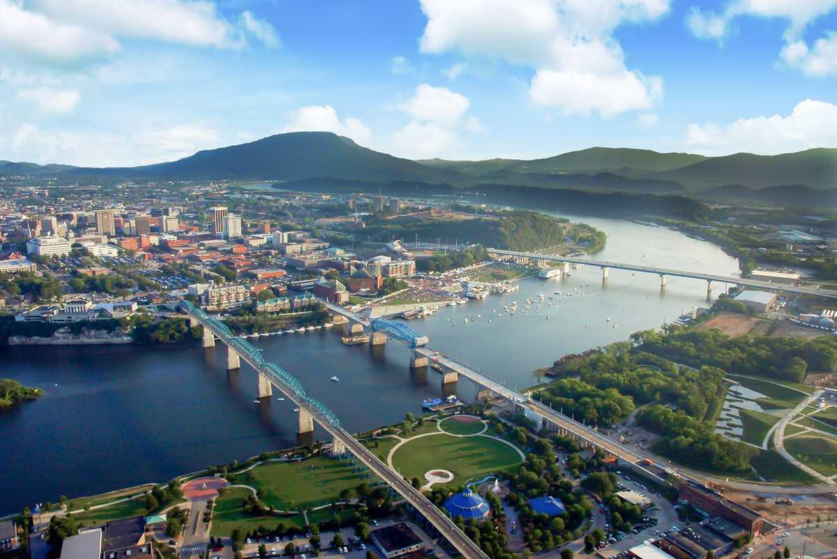 Luftansicht von Chattanooga in Tennessee