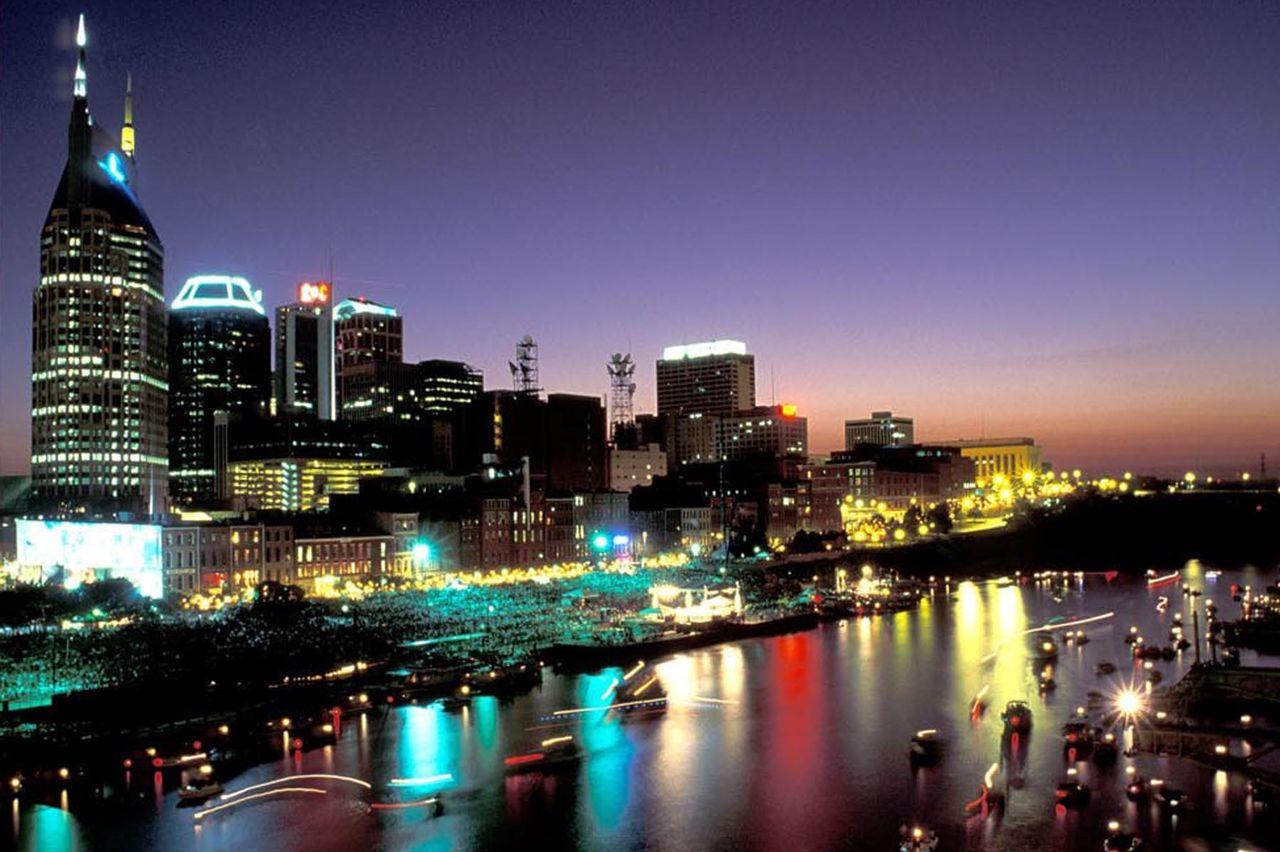 Nashville bei Nacht.