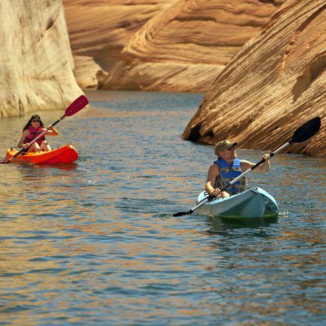 Kanu Ausflug auf dem Lake Powell, Arizona