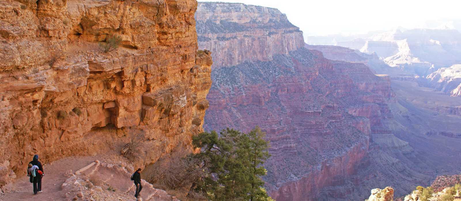 Wandern auf dem South Kaibab Trail im Grand Canyon Nationalpark