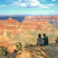 Die Aussicht im Grand-Canyon-Nationalpark in Arizona genießen