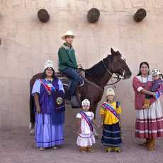 Native American Family in Mesa, Arizona