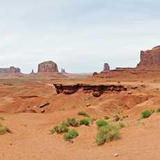Blick auf das Monument Valley