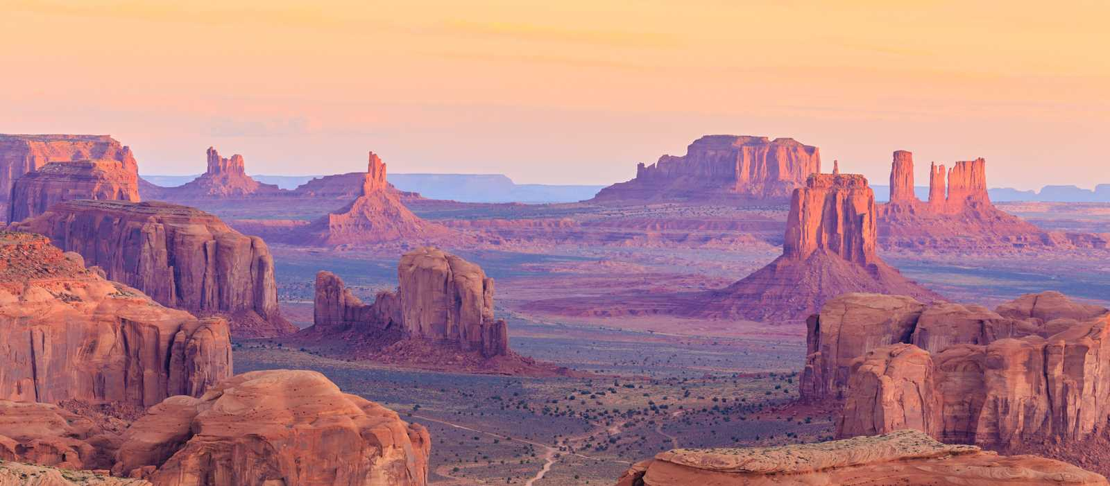 Sonnenuntergang im Monument Valley, Arizona
