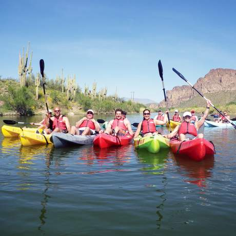 Ausflug mit dem Kajak in Scottsdale, Arizona