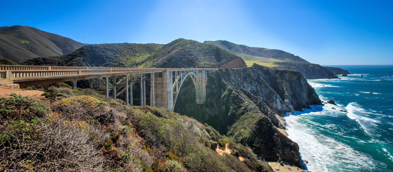 Bixby Creek Bridge auf dem Highway One, California