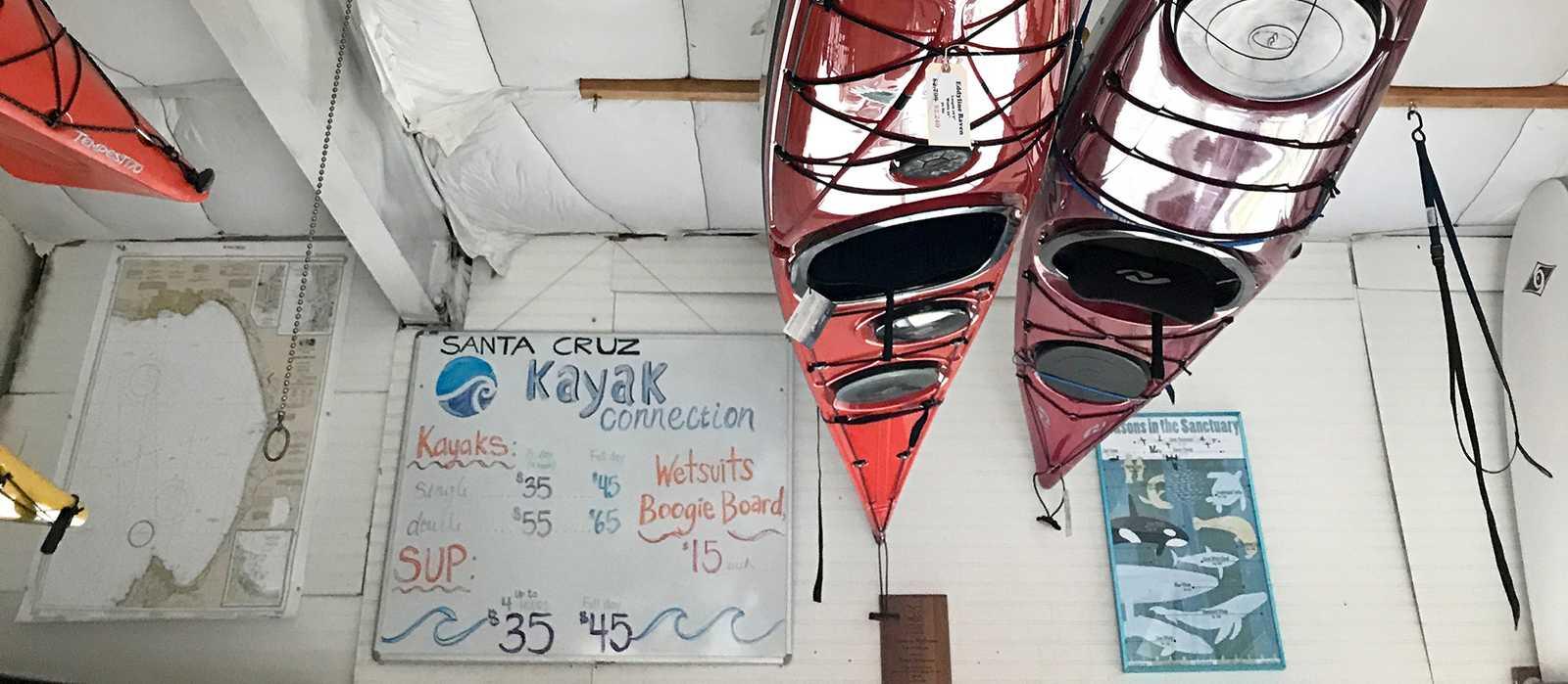Kajakmiete in Santa Cruz