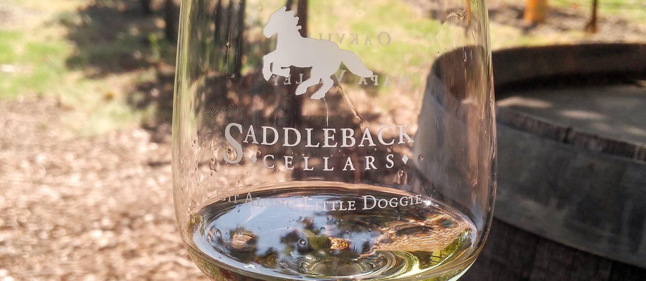 Weinprobe im Saddleback Cellars Weingut im Napa Valley, Kalifornien