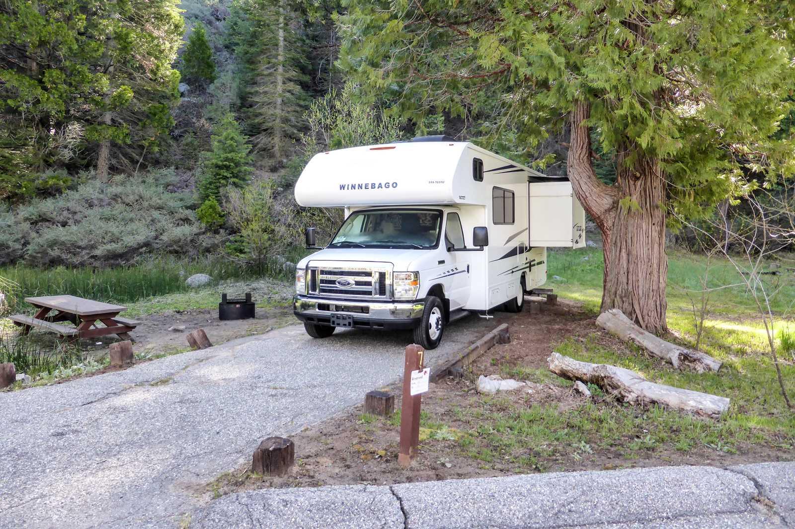 Mit dem Wohnmobil auf dem Summerdale Campground in Kalifornien
