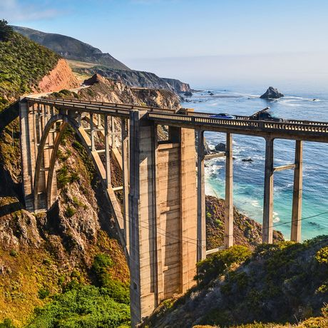 Die berühmte Bixby Creek Bridge