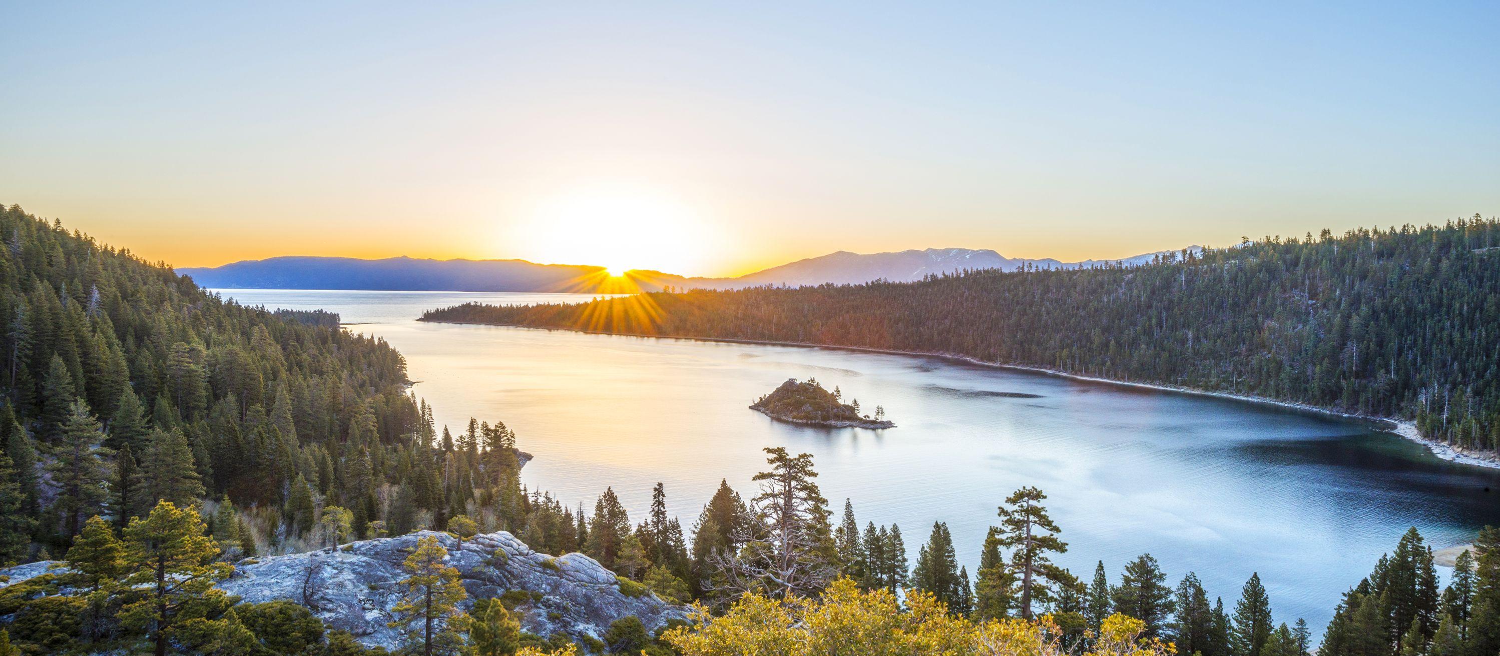 Sonnenuntergang über dem Lake Tahoe