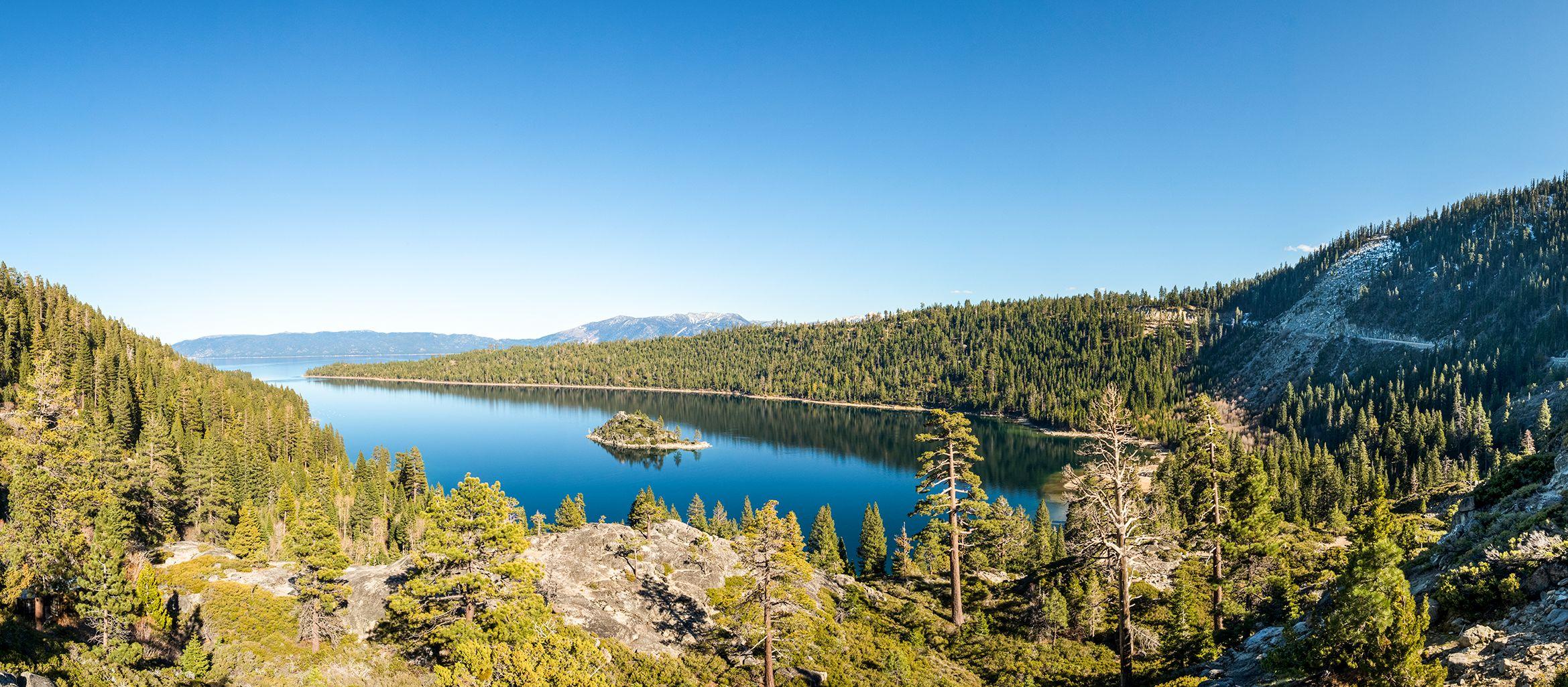 Landschaftsaufnahme vom Lake Tahoe