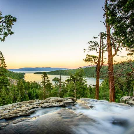 Die Emerald Bay am Lake Tahoe