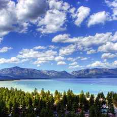 Ausblick auf Lake Tahoe