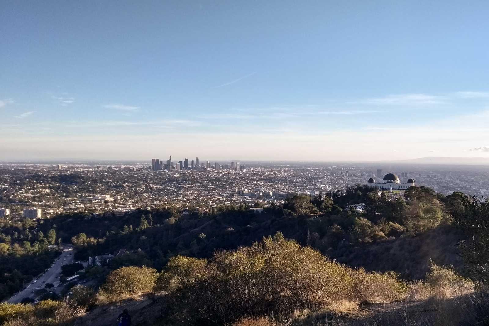 Die Aussicht auf L.A. beim Sunset Hike