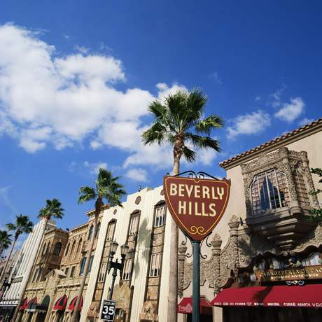 Beverly Hills sign, Beverly Hills, California, United States of America, North America