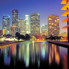 Downtown Los Angeles bei Nacht