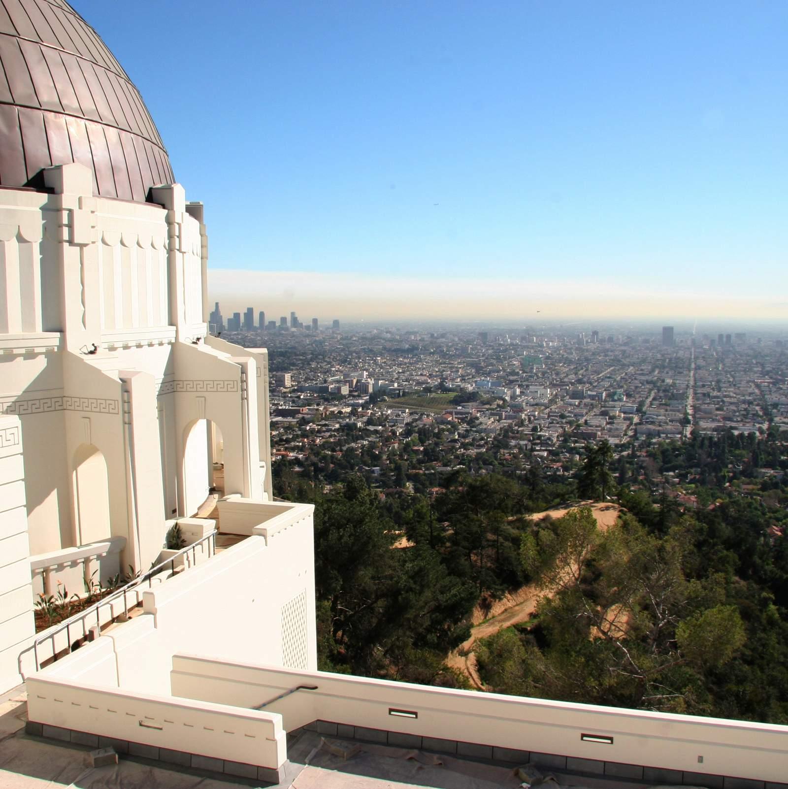 Blick auf Los Angeles von dem Griffith-Observatorium