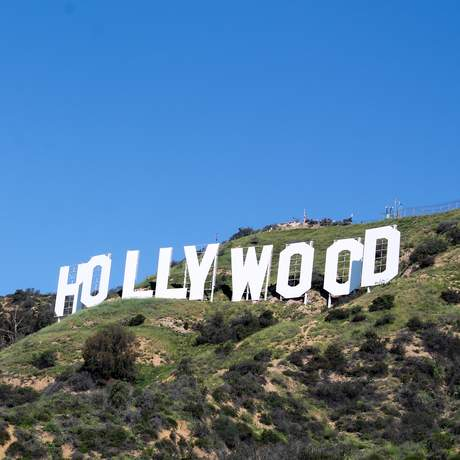 Hollywood Schriftzug in den Hollywood Hills