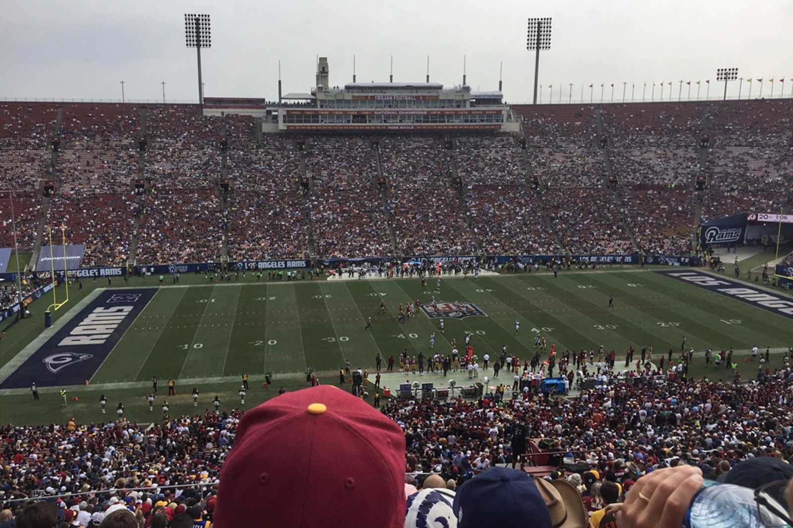 Ein Spiel der Los Angeles Rams