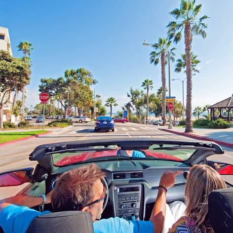 Auf der Ocean Ave in Santa Monica