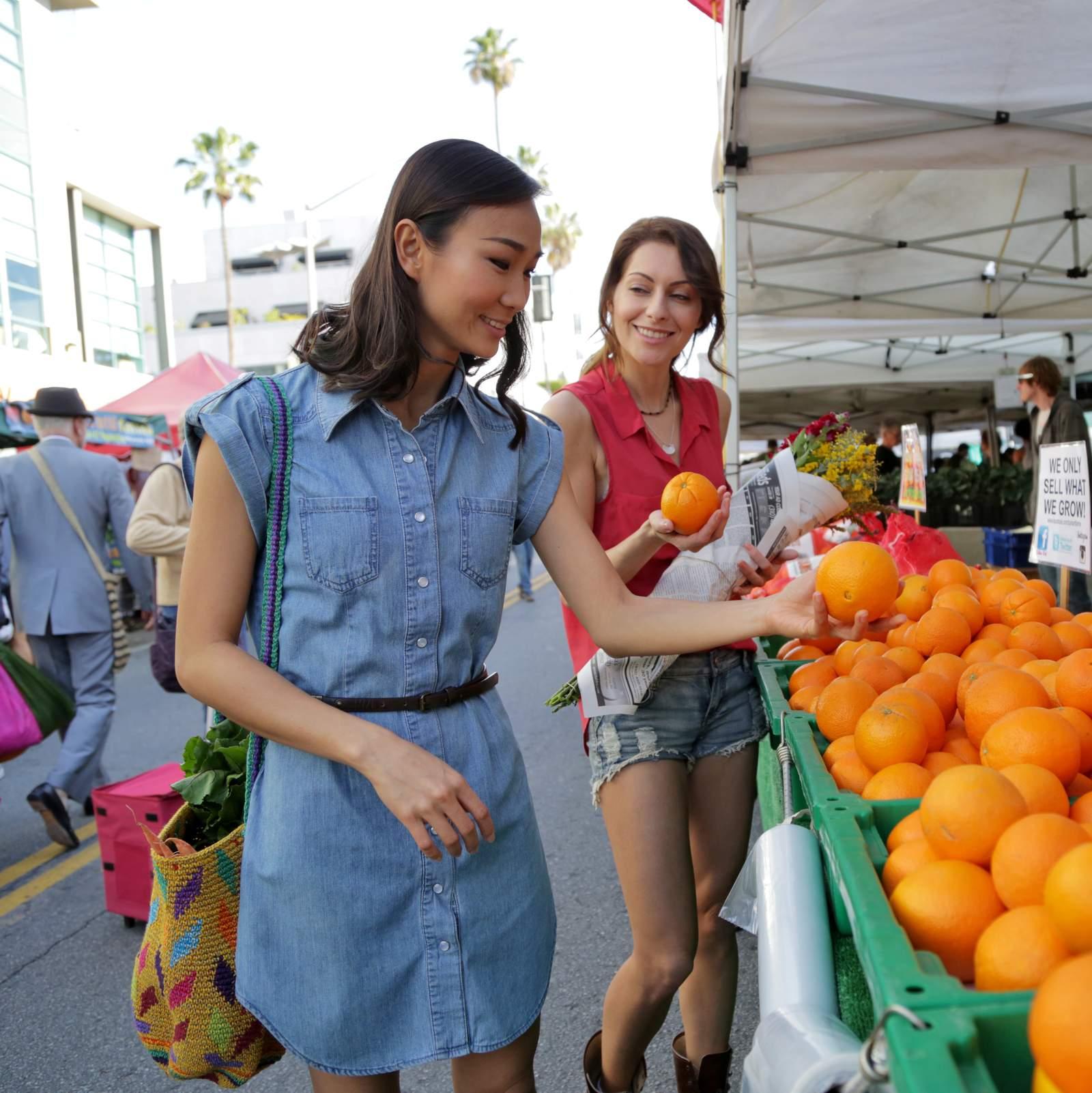 Einkaufen auf dem Farmers Market in Santa Monica