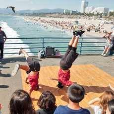 Taenzer auf der Santa Monica Pier