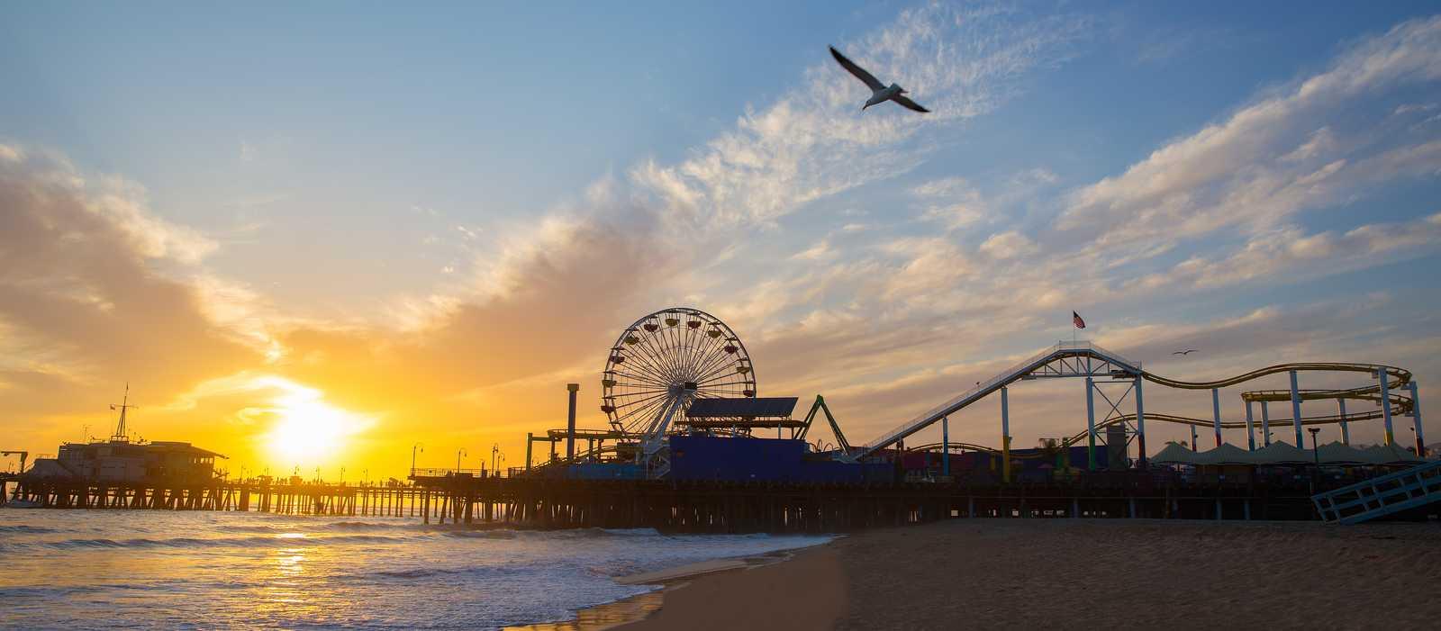 Sonnenuntergang am Santa Monica Pier