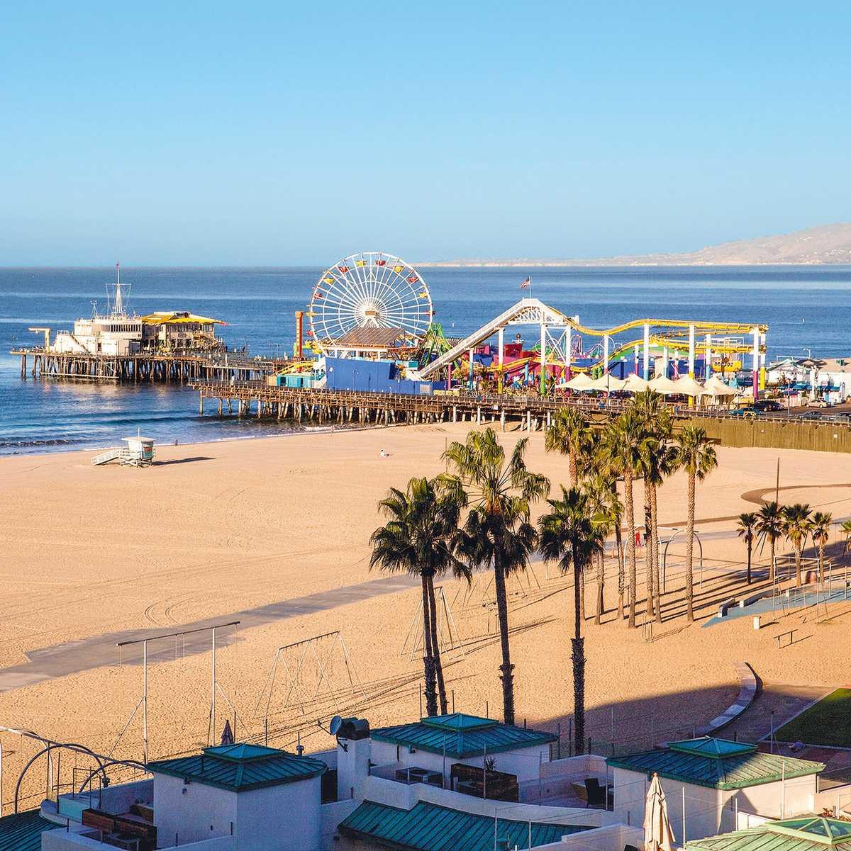 Santa Monica Beach Pier, Santa Monica, Kalifornien