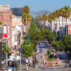 Die Promenade der Third Street von oben