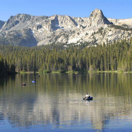 Mammoth Lakes im Mammoth Mountain Skigebiet, Kalifornien
