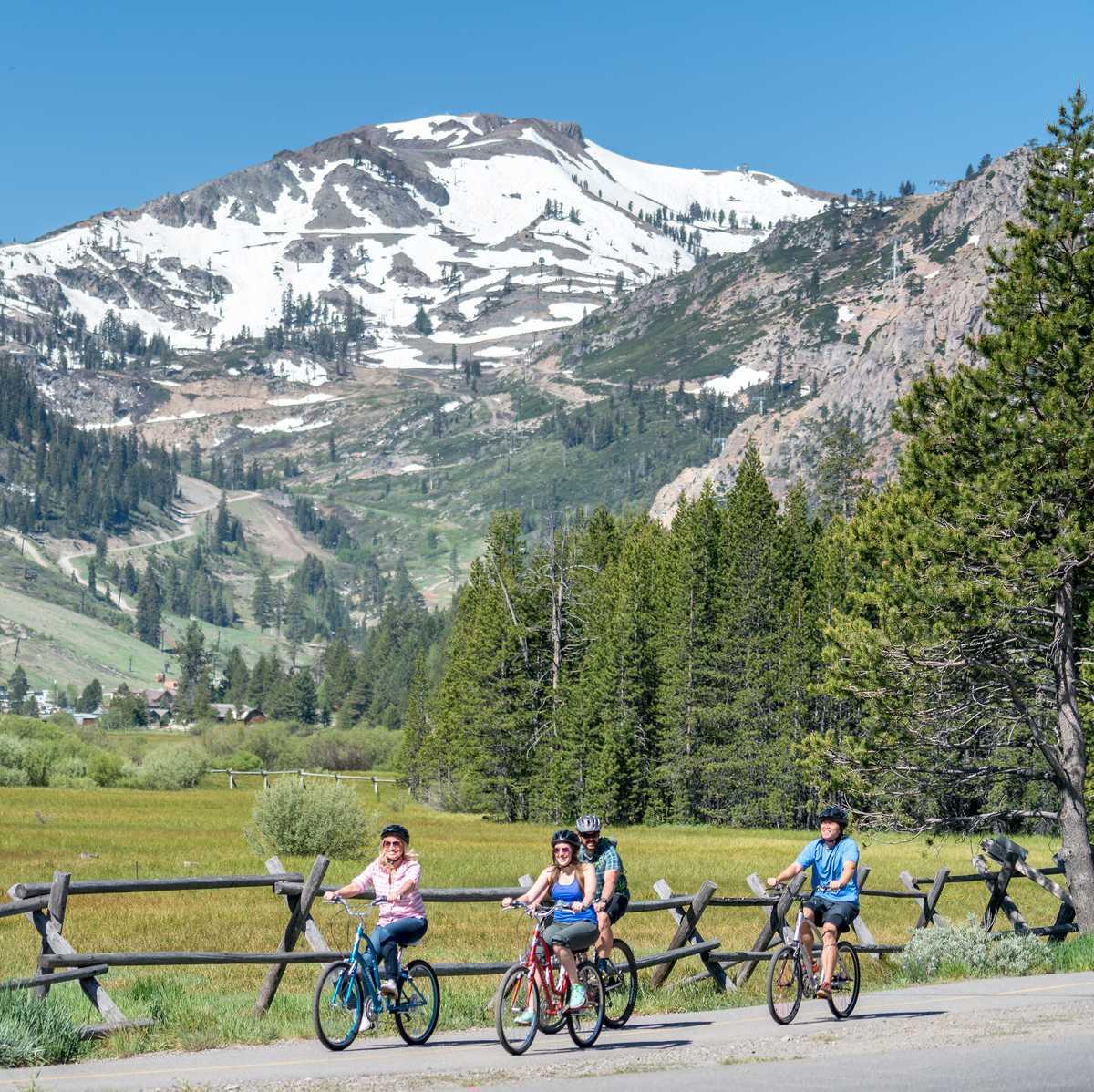 Eine Radtour nördlich des Lake Tahoes in Kalifornien