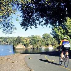Unterwegs auf einem der Sacramento Bike Trails