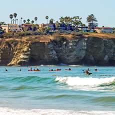 Kajaks an den La Jolla Shores