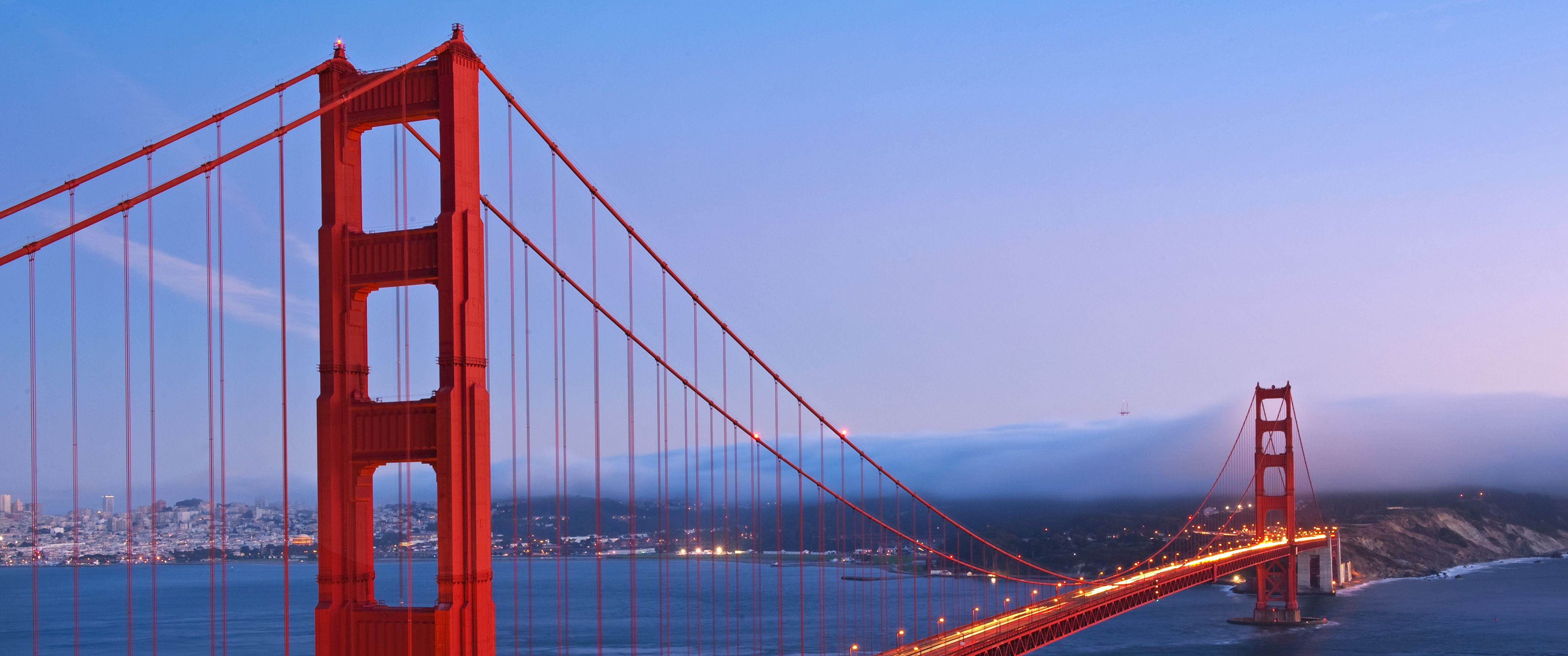Abendstimmung an der Golden Gate Bridge