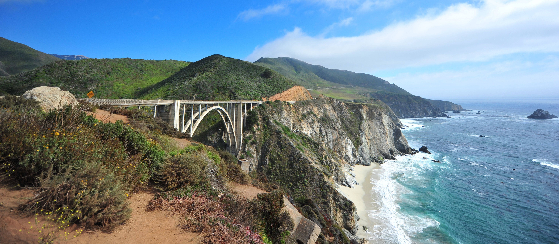 Autobahn an der pazifischen Kueste, Los Angeles, San Francisco