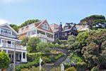Schöne Häuser im viktorianischen Stil in San Francisco